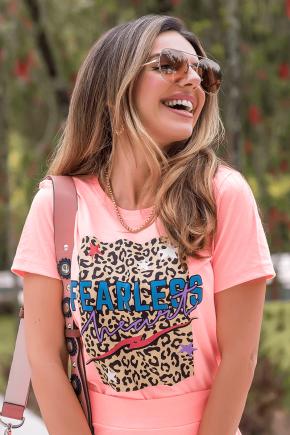 02f0121 camiseta feminina fearles hiatto laranja neon 1