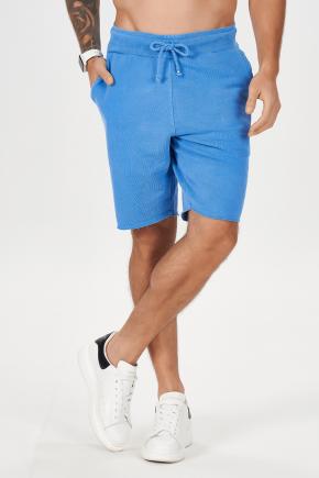 06m0036 bermuda masculina estonada hiatto azul 6