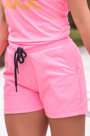 07f0003 shorts moletinho feminino hiatto rosa neon 3