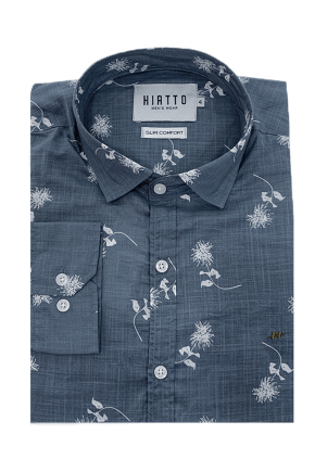 04m0121 camisa social masculina estampa floral azul hiatto 1