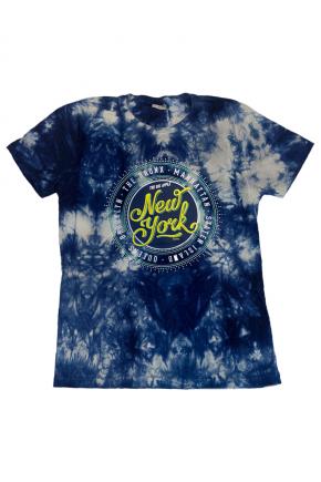 02f0144 camiseta feminina marmorizada new york city hiatto azul 2